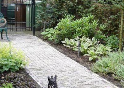 Feenstraa tuin bij oprit